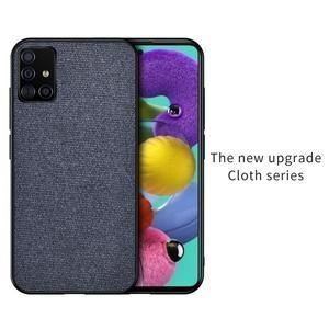 For Samsung A51 Case Shockproof Back Cover Cloth Fabric Silicone Soft