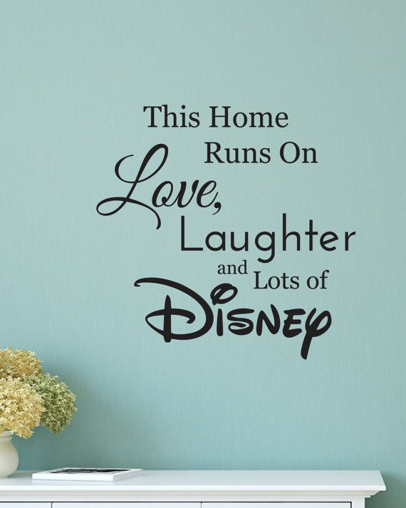 disney wall decal, disney wall sticker, family wall decal, run
