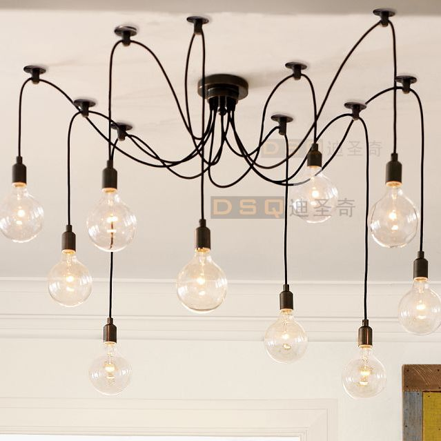 Edison Chandelier classic vintage ancient light living room chandelier dining room ceiling light $80.00 (+$50 shipping)