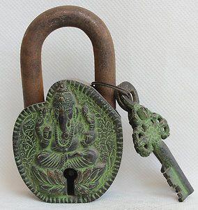 Ganesha Padlock & Key