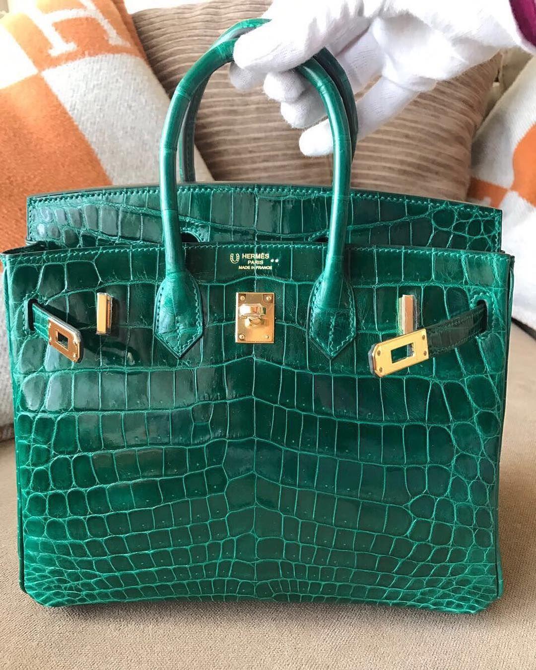 5dc8404ee9f Hermès Birkin 25 HSS Vert Emeraude Niloticus Shiny Ghw A