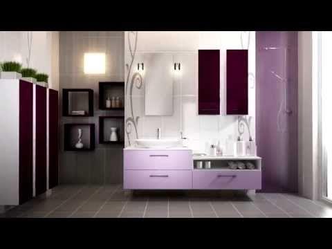 Salle de bain Schmidt modèle Loft Soft Lilas decoration - schmidt salle de bain