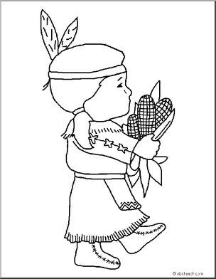 Coloring Page Thanksgiving Wampanoag Girl Abcteach Thanksgiving Coloring Pages Fall Coloring Pages Coloring Pages