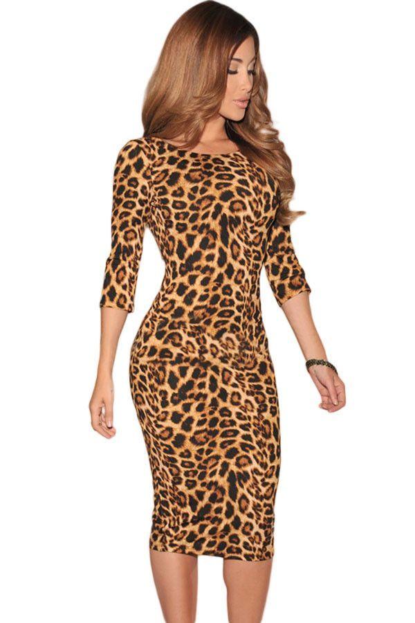 Satin Leopard Print Wrap Playsuit