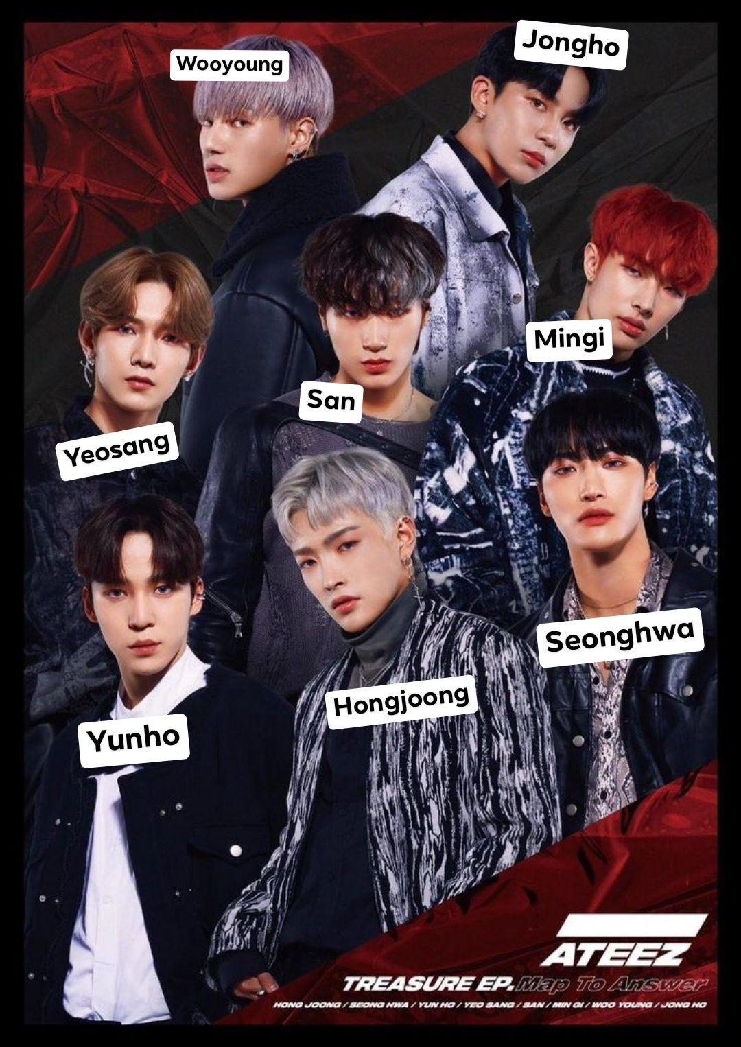 Pin By Vanna On Ateez Kpop Group Names Boy Groups Kpop Wallpaper