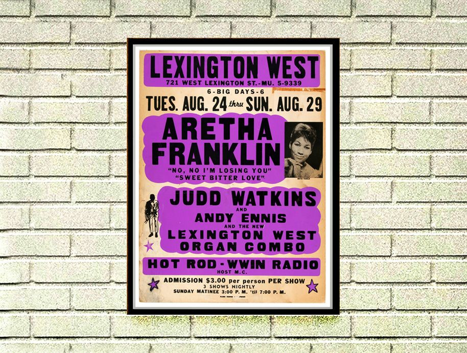 Aretha Franklin music Poster reprint 12x18 - $25 + Shipping