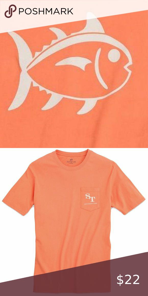 Nwt Men S Southern Tide Skipjack Orange T Shirt M Orange T Shirts Southern Tide Mens How To Dye Fabric