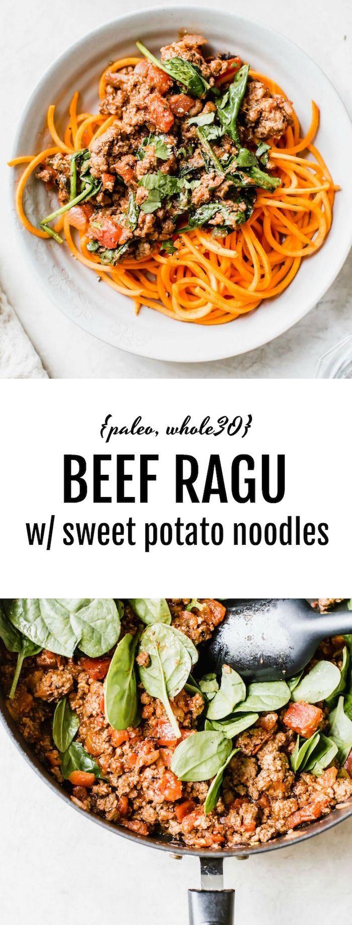 Beef Ragu with Sweet Potato Noodles (paleo, whole30) images