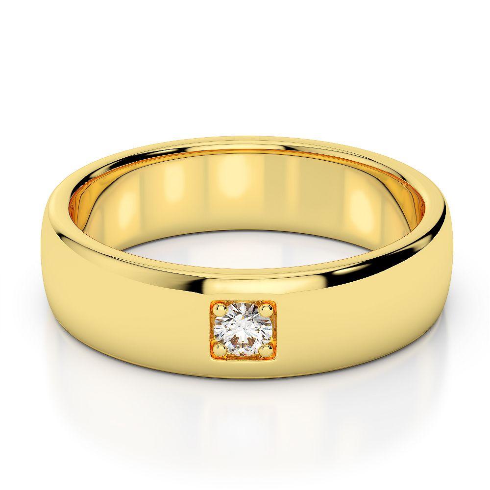 Gold platinum diamond mens wedding ring 5 mm agdr1271