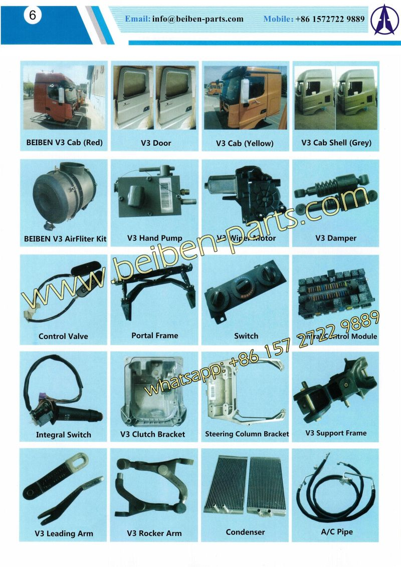 Heavy duty truck parts - Beiben Truck Spare Parts Catalogue