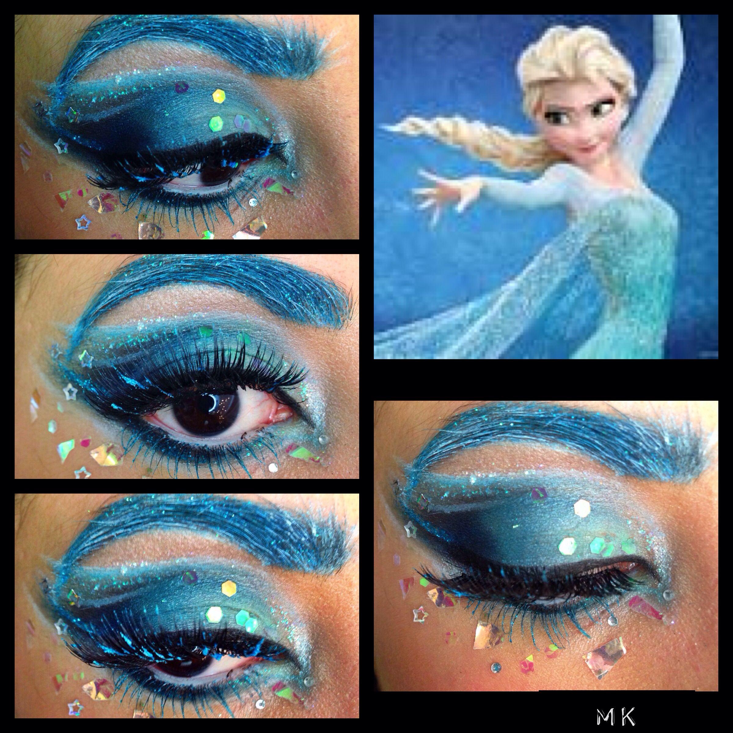 Disney's Frozen Eye Makeup