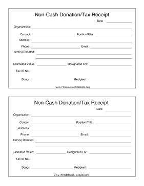 If you make a non cash donation such as clothing furniture if you make a non cash donation such as clothing furniture equipment or food to a non profit make sure that you get this receipt template for tax spiritdancerdesigns Choice Image