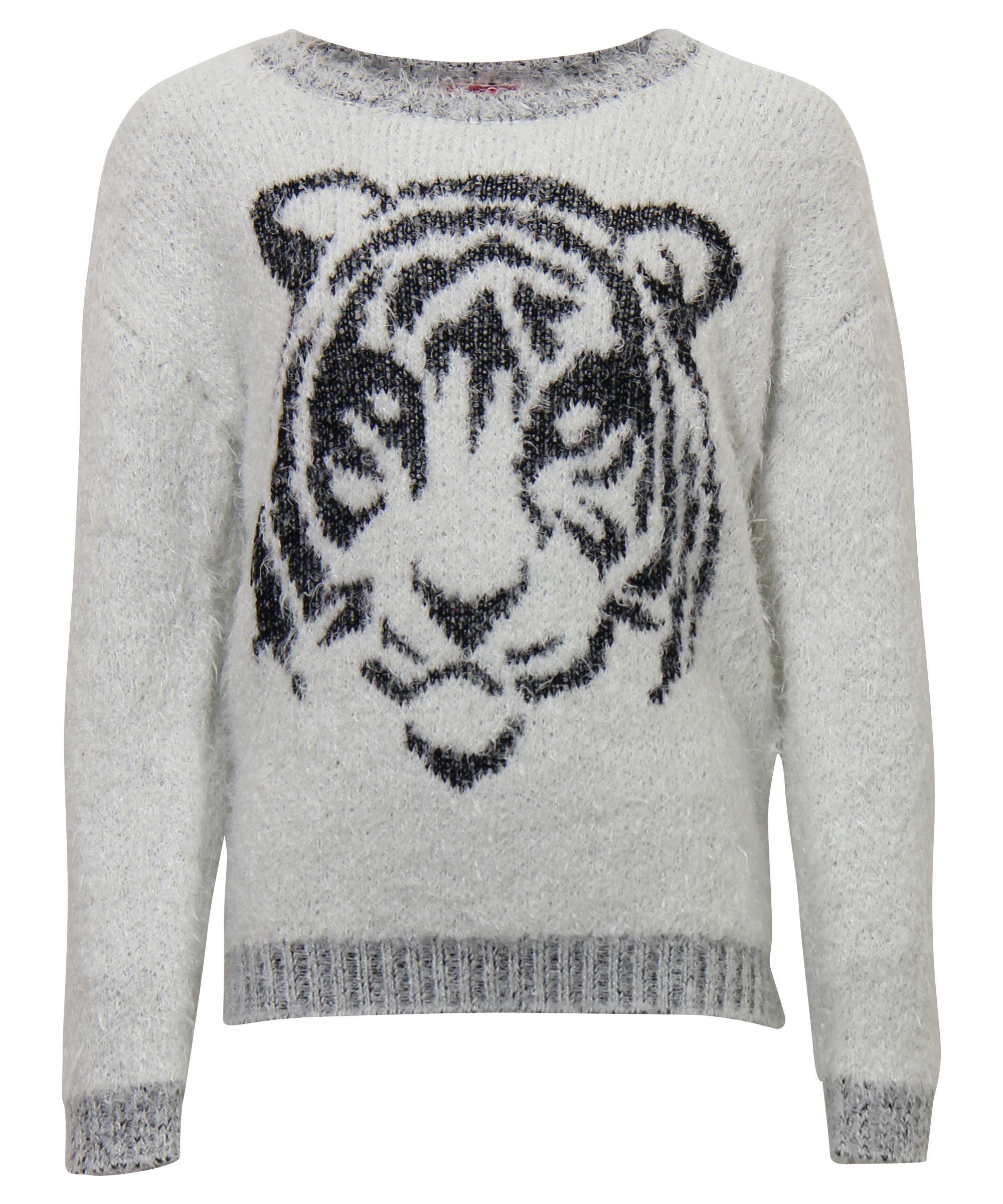 Tijgerprint Trui.Sweater Met Tijgerprint Voor Dames Bestel Hem Nu Op Www Terstal Nl