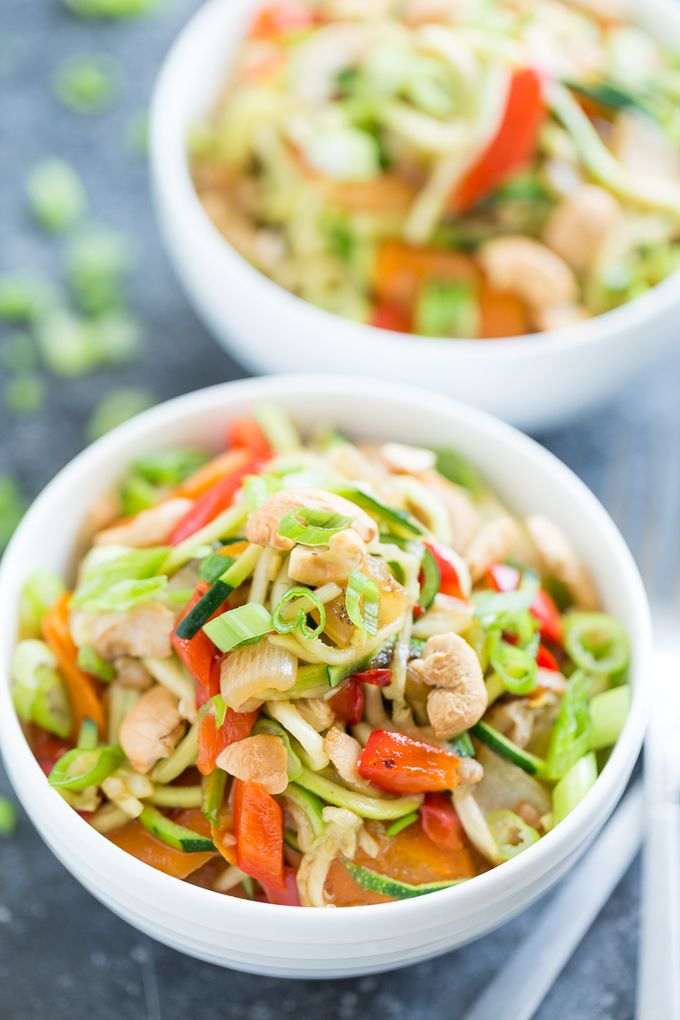 Kung Pao Chicken Zucchini Noodles | GI 365