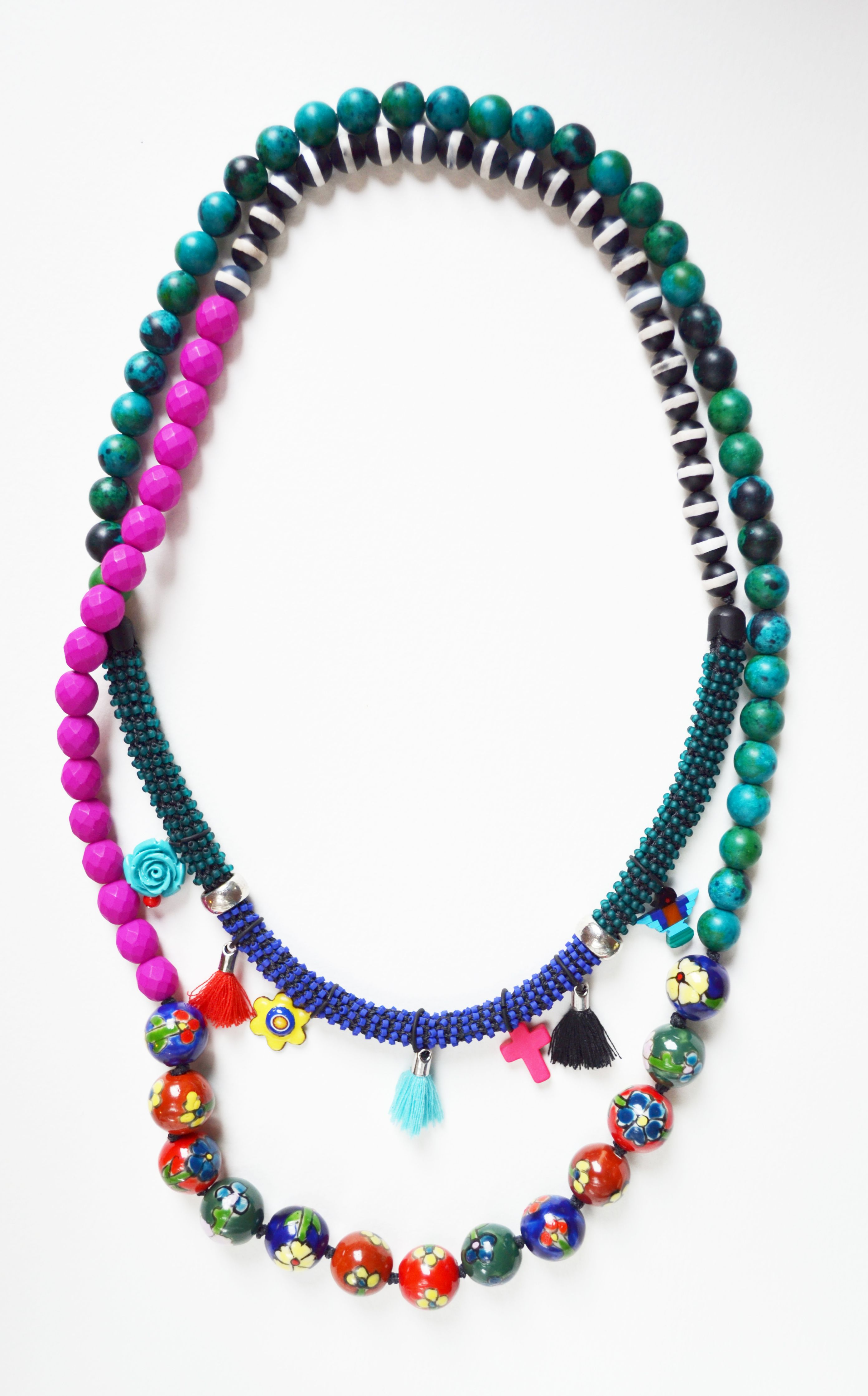 Frida Kahlo Is The Name Of This Necklace Contrast Coloursflowers