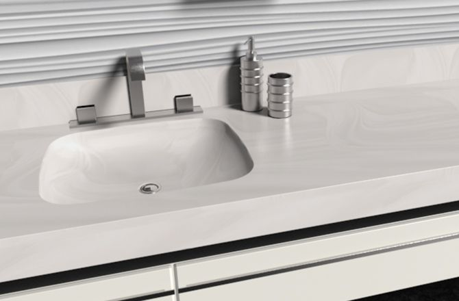 corian white onyx bathroom remodel in 2019