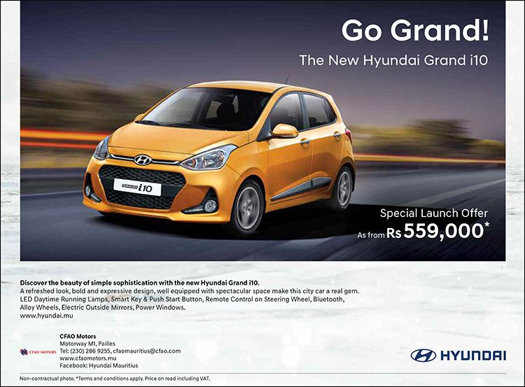 Cfao Motors Go Grand With The New Hyundai Grand I10 As From Rs