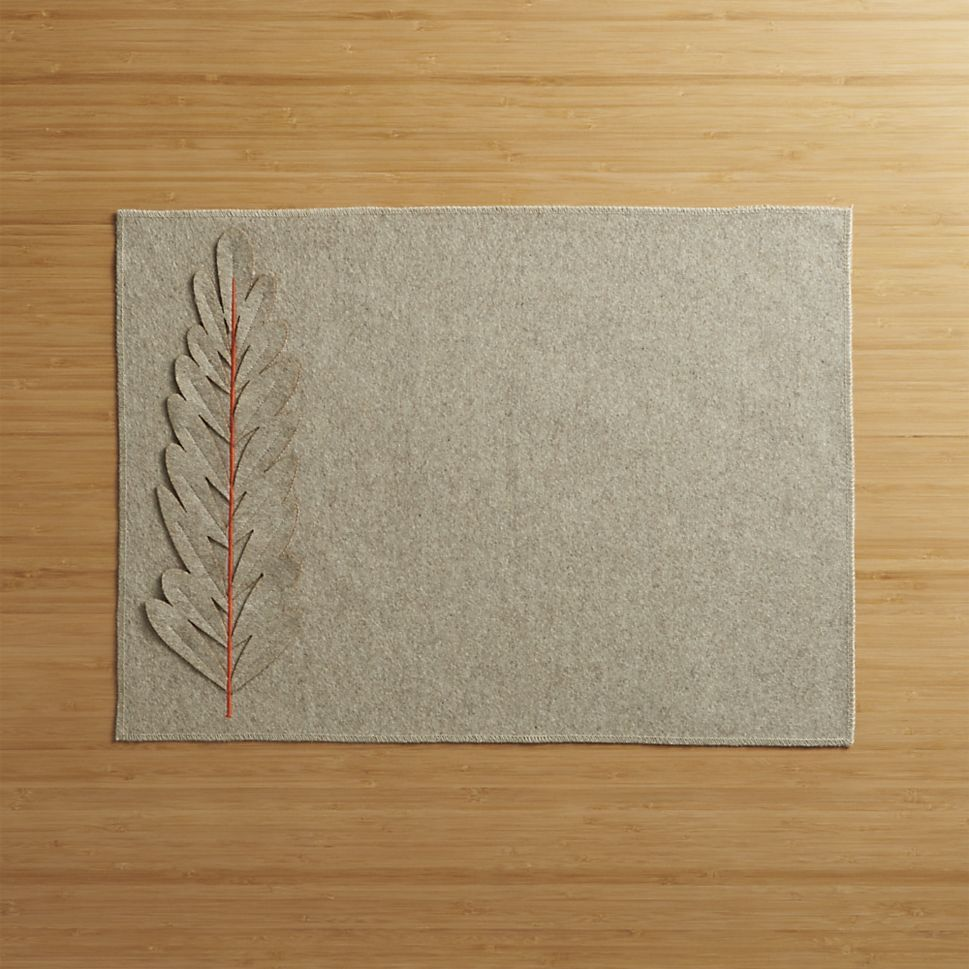 Sprig Felt Placemat In Placemats Crate And Barrel Placemats