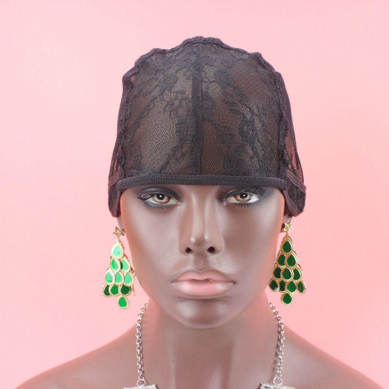 무료 배송 유태인 머리망 중간 크기 블랙 컬러 5 개/몫 가발 캡 만드는 제직 가발 조절 스트랩 다시