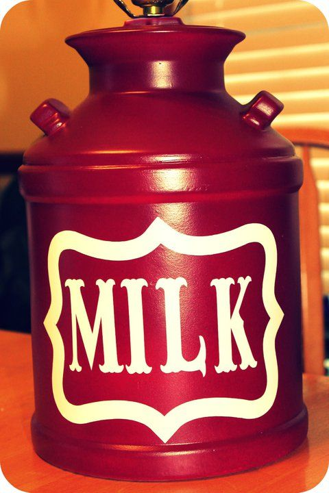 to do with the milk can my brother got me.  Spray paint it and then label it!