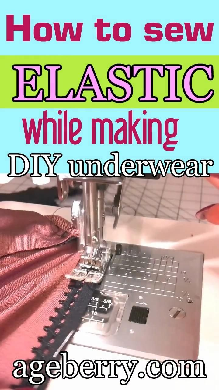 DIY panties tutorial (plus how to sew knits and how to attach elastic