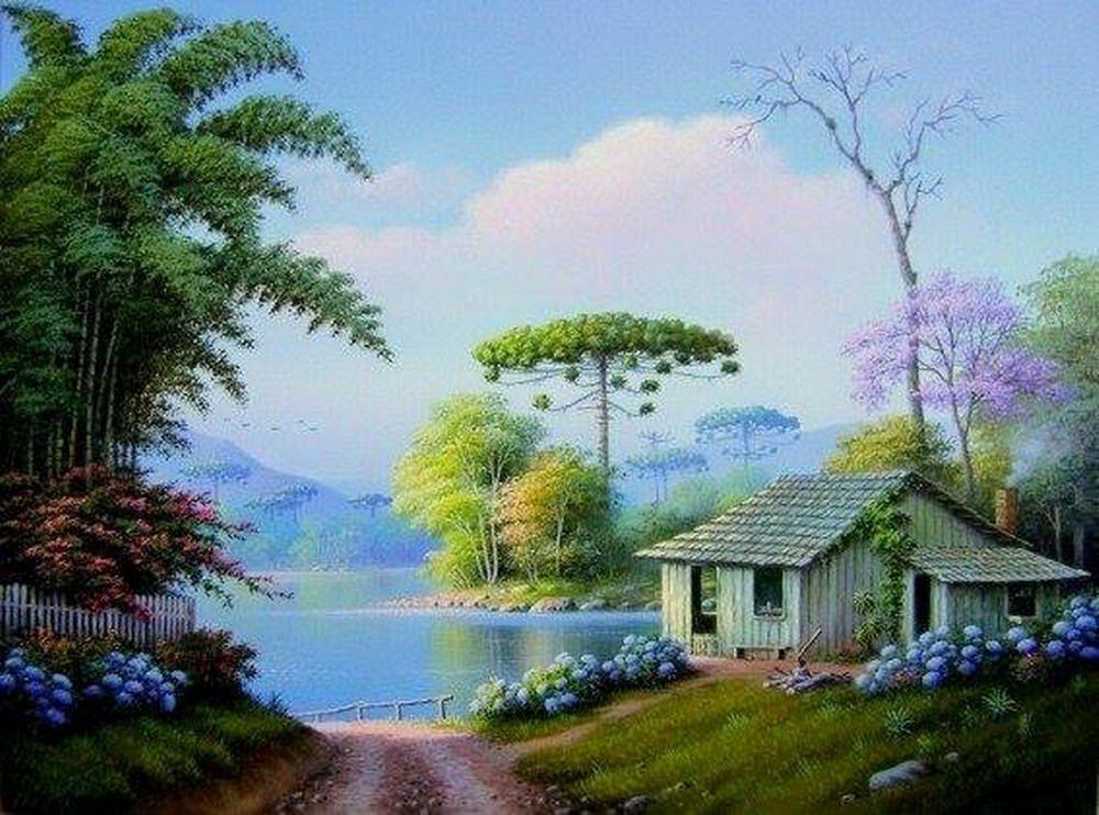 Frescos paisajes selvaticos paisajes pinterest - Cuadros de casas de campo ...