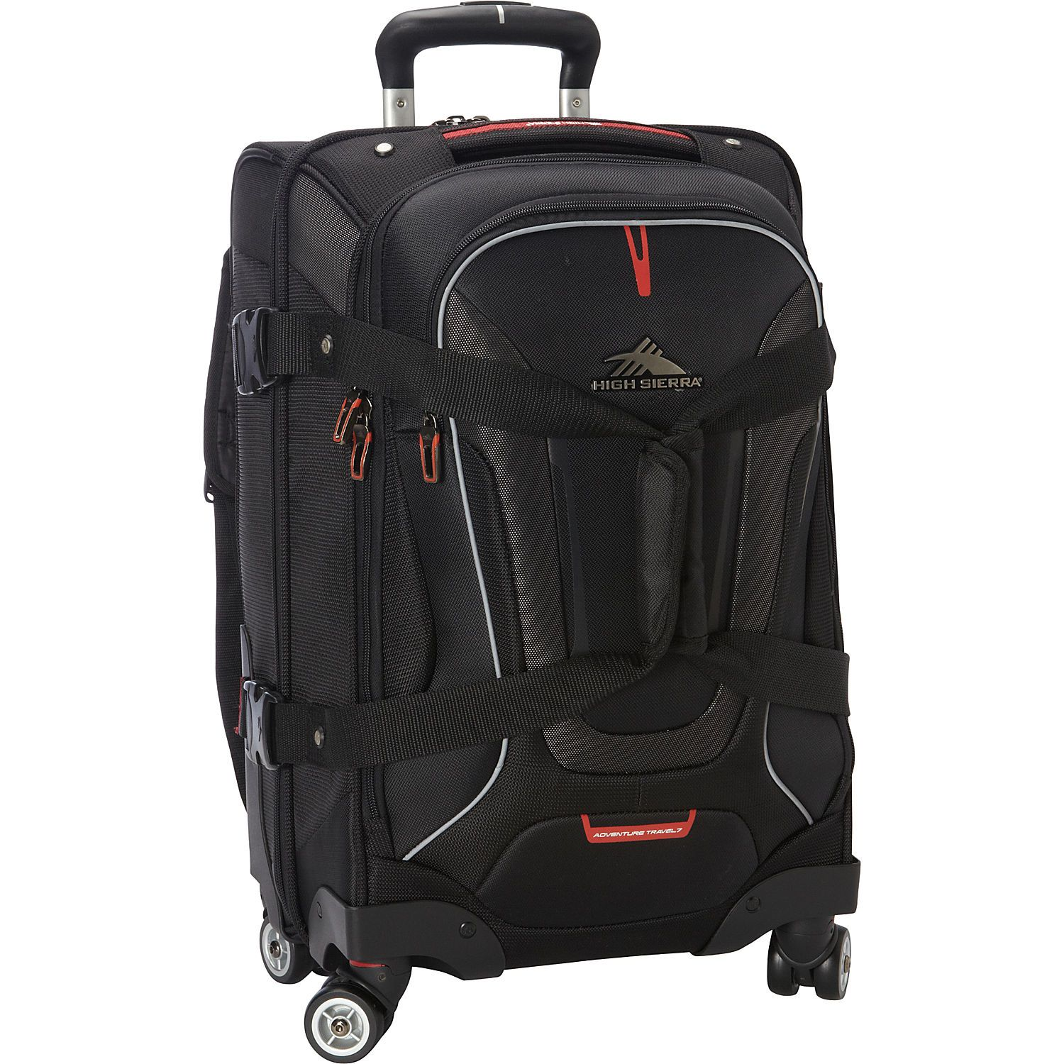 High Sierra AT7 Carryon Spinner duffel with backpack straps eBags