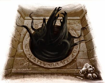 The Thing In The Portal A Horrible Beast Of Unimaginable Power This Monstrosity Was Being Summoned Into The World Fro Hp Lovecraft Rpg Fantasias Personagens