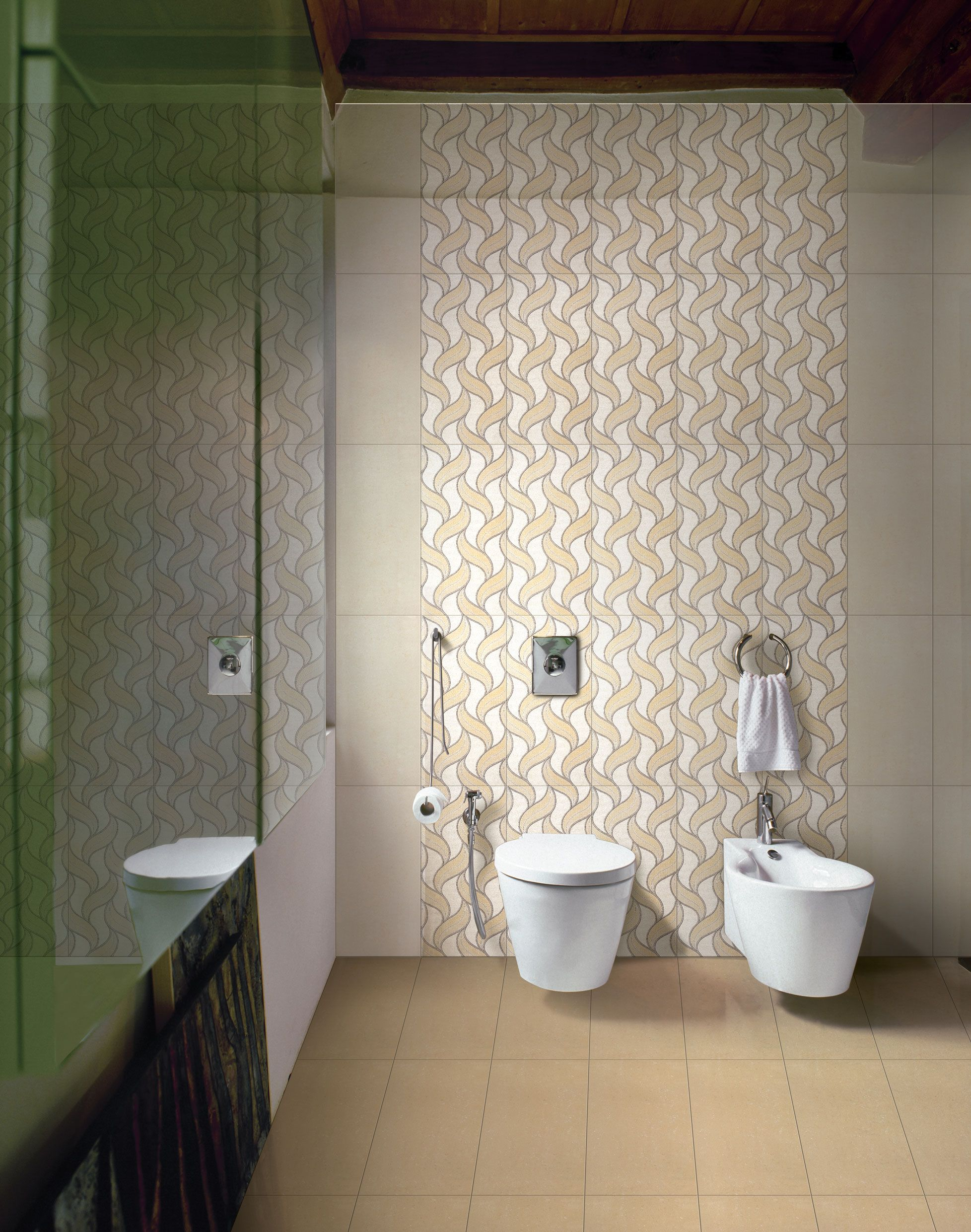 Buy designer floor wall tiles for bathroom bedroom for Designer bathroom flooring
