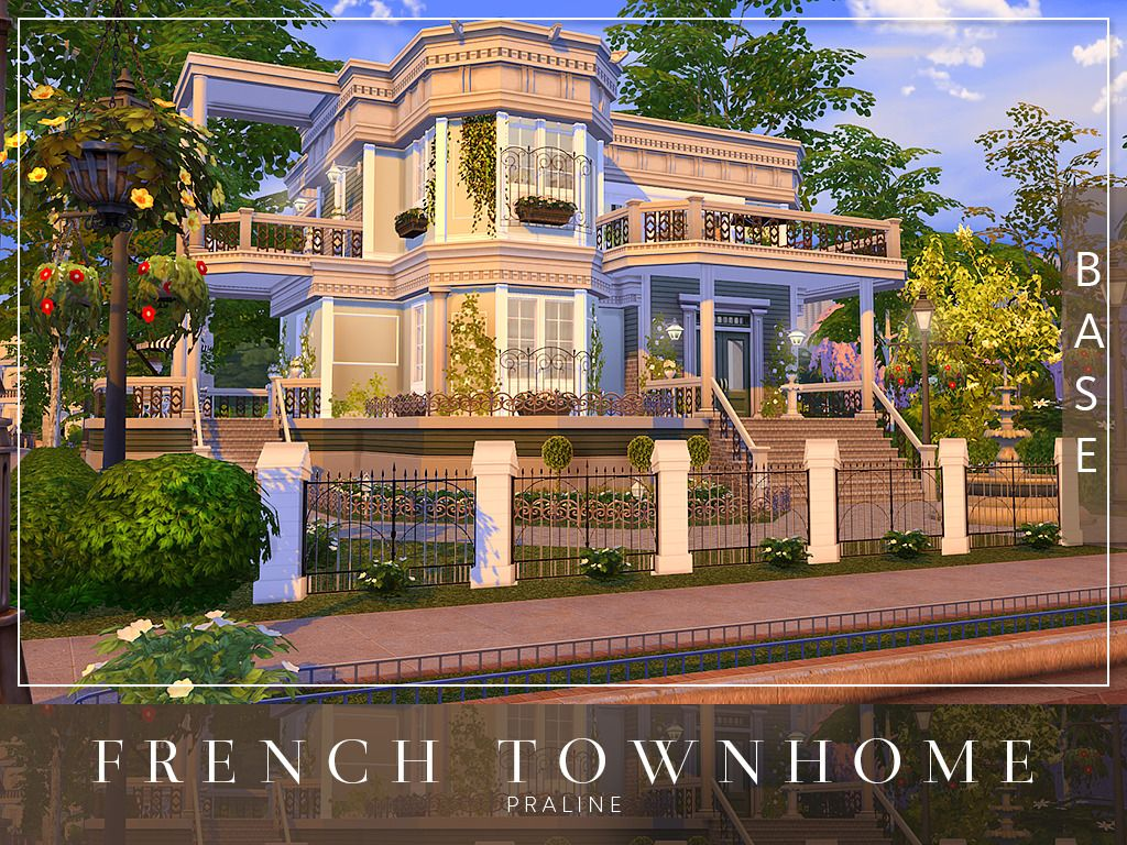 C R O S S A French Townhome Download Base Game Sims Dom Sims 4