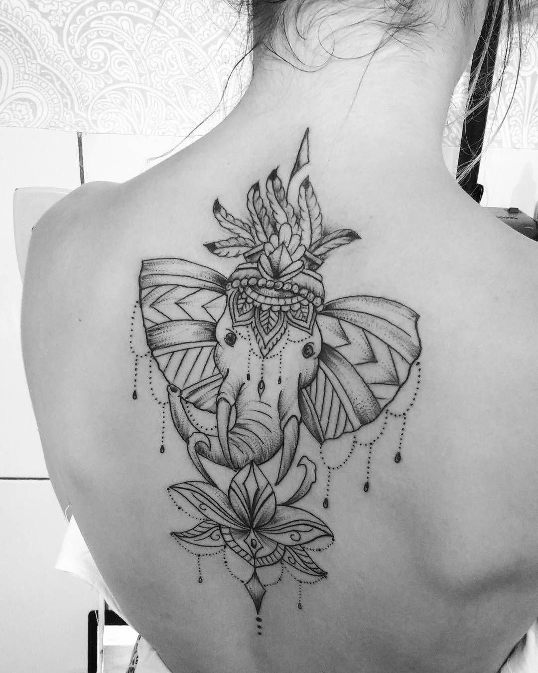 Elefante Y Flor De Loto Tattoos Tattoos Tattoo Designs Ink Art