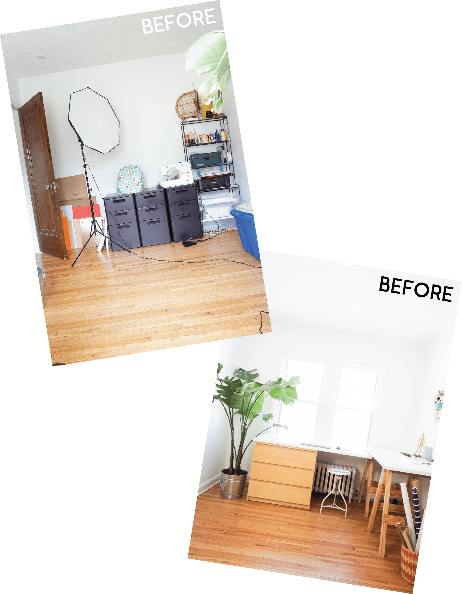 Before & After Creating a SmallSpace Guestroom with