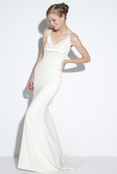 Alix Kelly Elegant Wedding Gowns Cowl Neck Wedding Dress Wedding Dresses Kennedy Wedding Dress