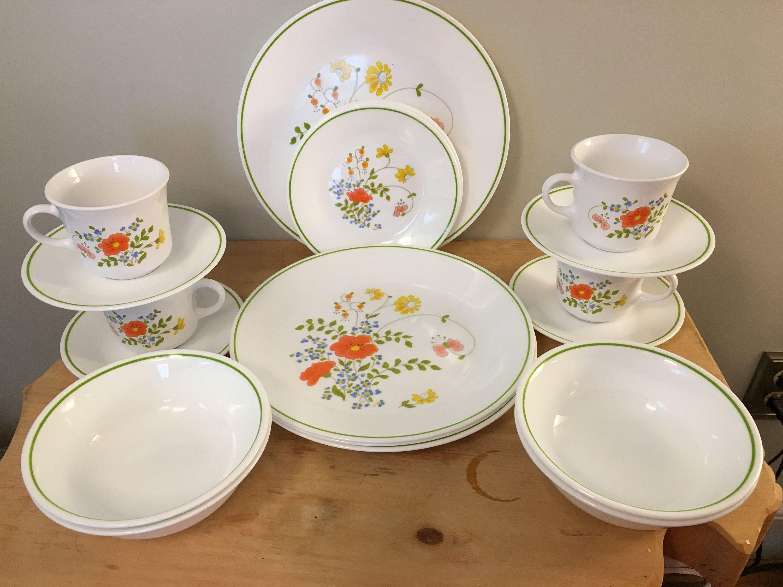 Corelle Wildflower Twenty Piece Set Of Dishes 5 Piece Place Corelle Corningware Dishes Dinner Plates
