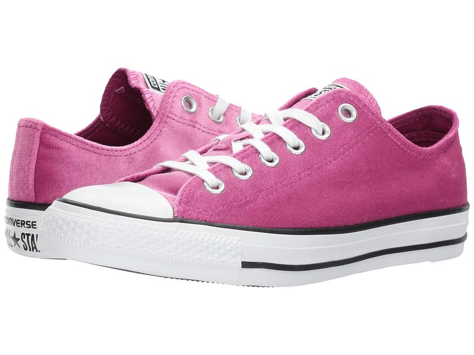 b766f1e94f26 Converse Chuck Taylor(r) All Star(r) Velvet Ox Women s Classic Shoes Pink  Sapphire White White