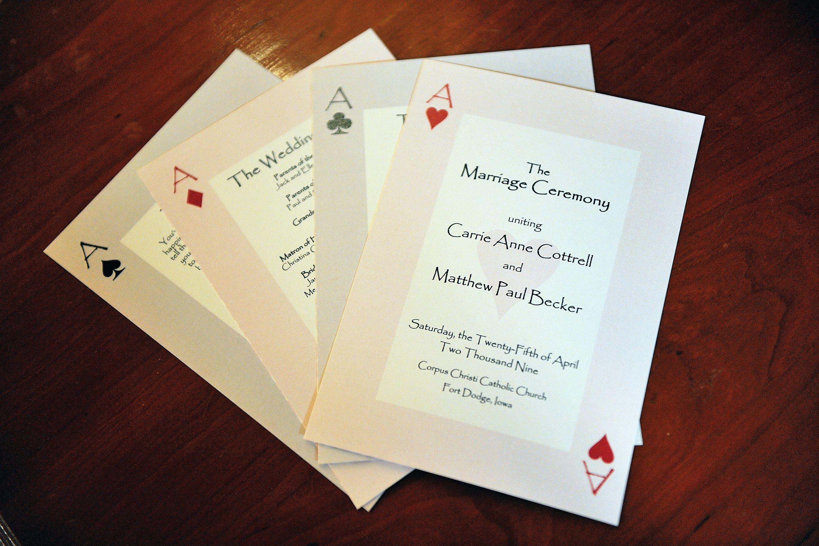Las Vegas themed wedding program | Arts & Crafts | Pinterest | Vegas ...
