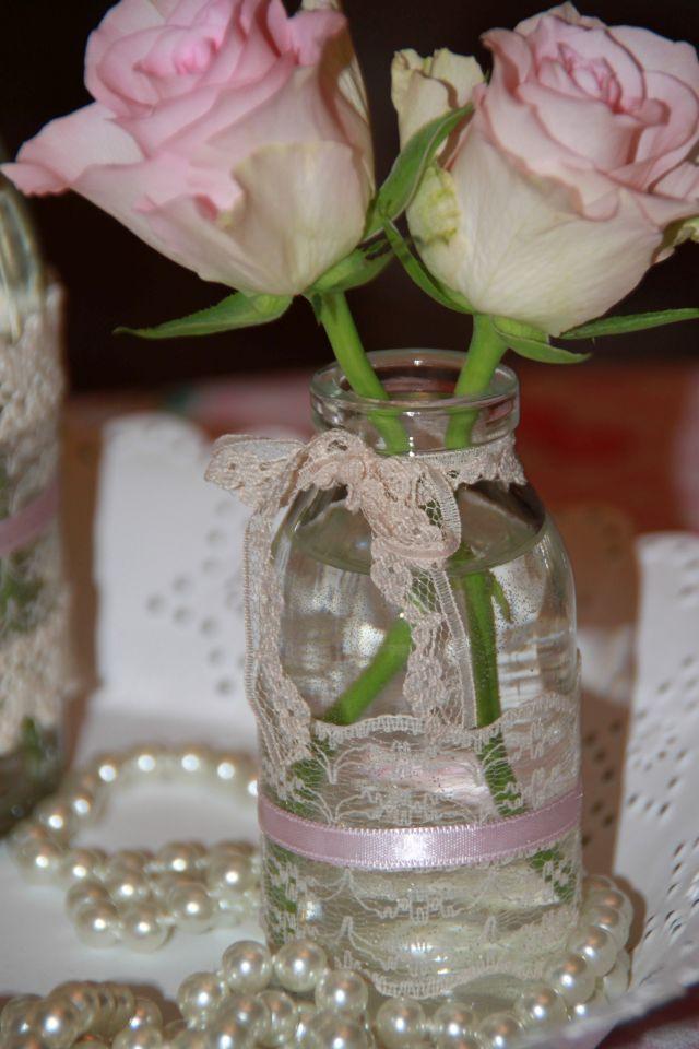 Ankerwerfer Wedding Deko Hochzeit Vintage Rosen Creme Rosa