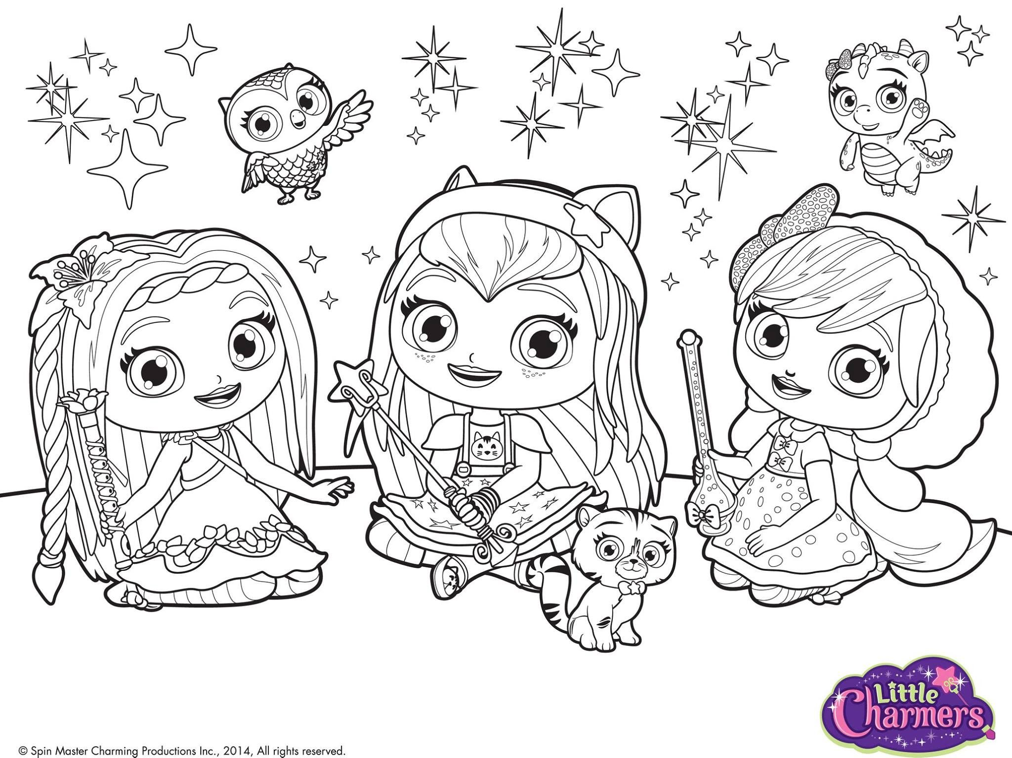 Pingl By Lmi Kids On Little Charmers The Mini Sorci Res Coloriage Dessin Chateau Feuilles A Colorier