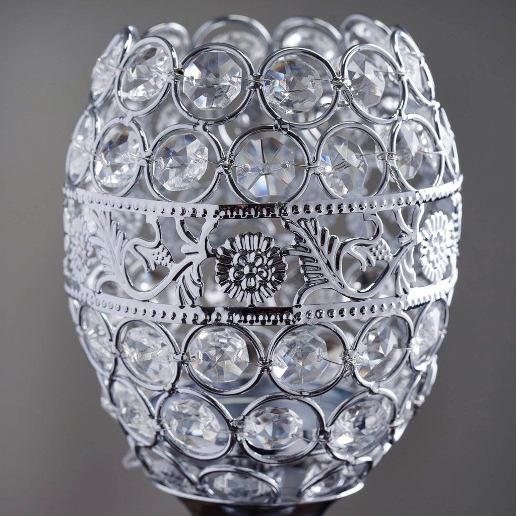 14 tall crystal beaded candle holder goblet votive tealight 14 tall crystal beaded candle holder goblet votive tealight chandelier silver buy one get one free arubaitofo Gallery
