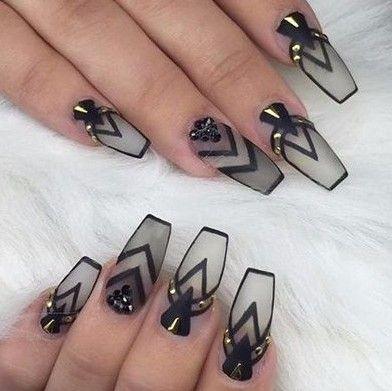 coffin nails kortenstein  gothic nails ballerina nails
