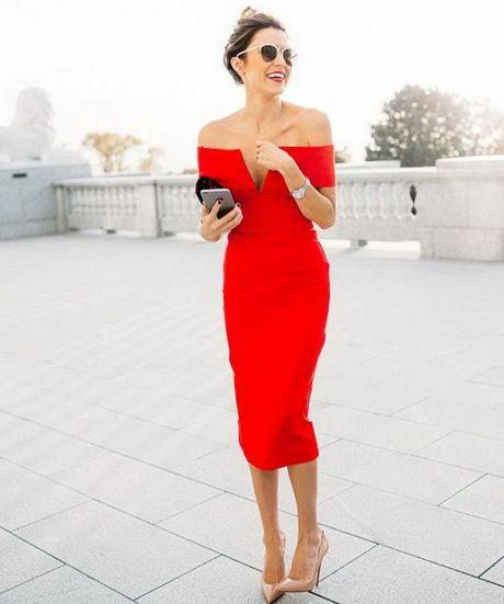 Vestito rosso scarpe