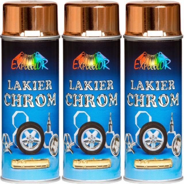 3 Lackspray 400ml Chromspray Kupferspray Chrom Kupfer Kupferfarbe - küche bei ebay