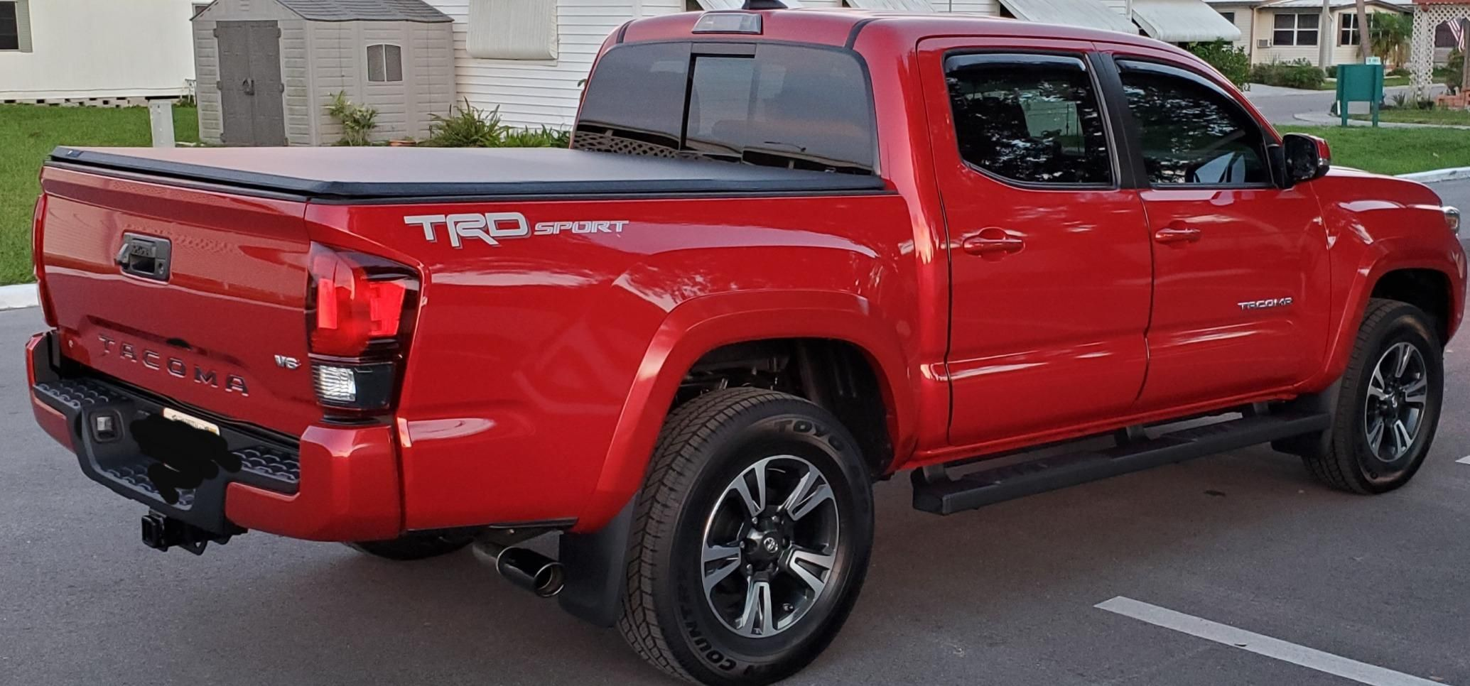 2019 Tacoma Trd Sport Red In 2020 Truck Bed Accessories Truck Bed Tonneau Cover