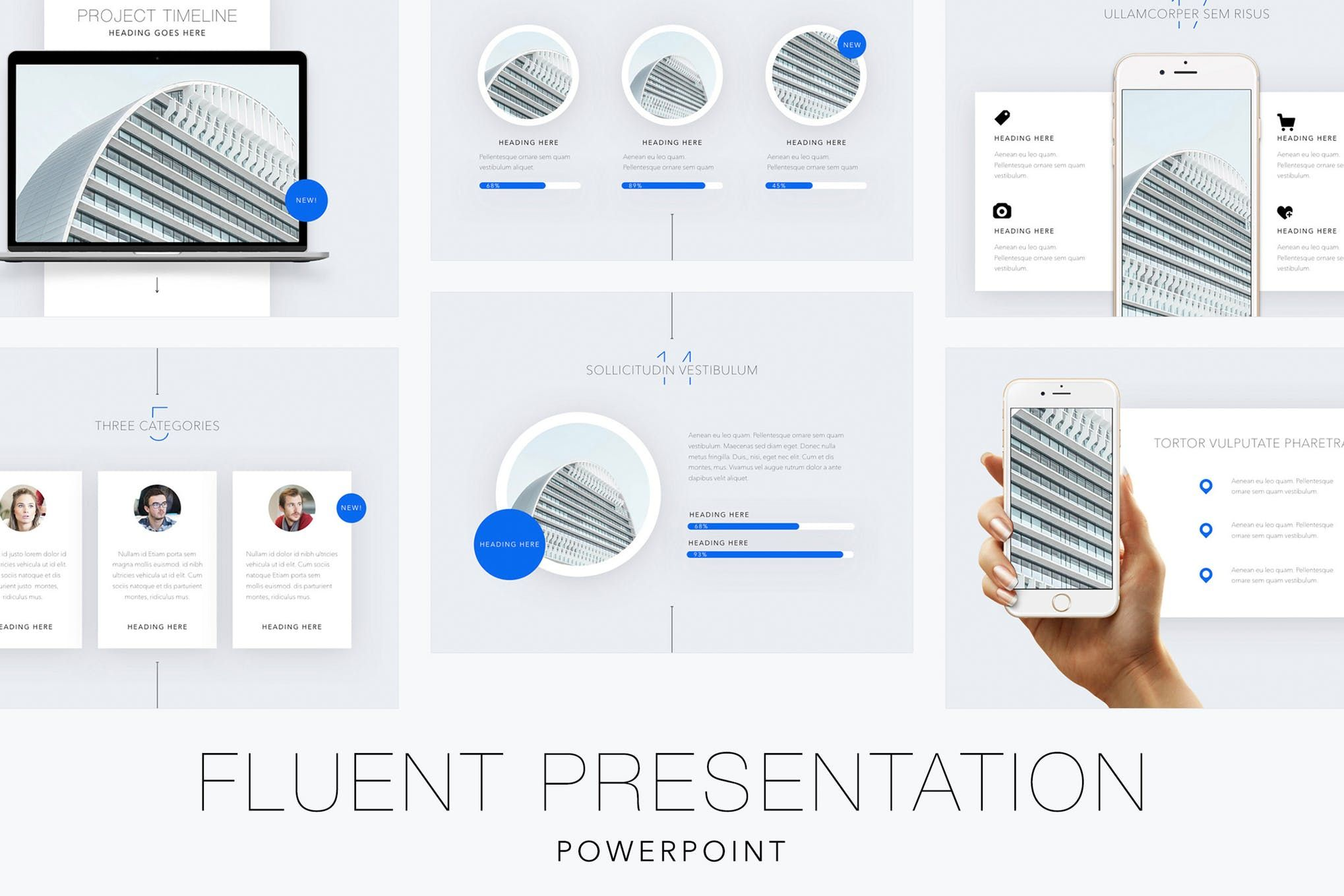 Fluent powerpoint template presentation templates pinterest fluent powerpoint template toneelgroepblik Image collections