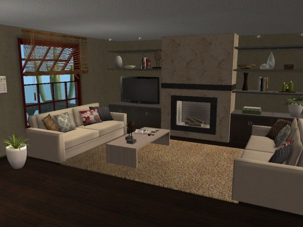 Modern Urban Loft Style Living Room Virtual Home D Cor Designs Using The Sims 2