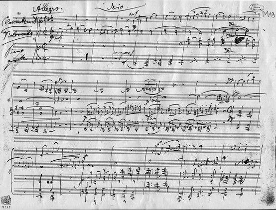 Trío para clarinete, violonchelo e piano en la menor, op.114 (Johannes Brahms). Un dos últimos traballos deste compositor, foi unha obra inspirada por Richard Mühlfeld. En 1891 foi estreada en privado por Mühlfeld ao clarinete, Robert Hausmann ao violonchelo e o propio Brahms ao piano. Un mes despois estreouse publicamente.