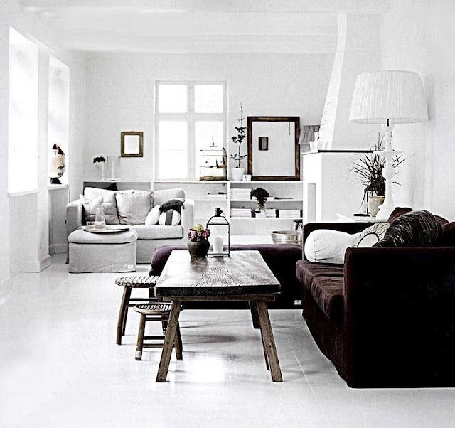 White & Brown Living Room