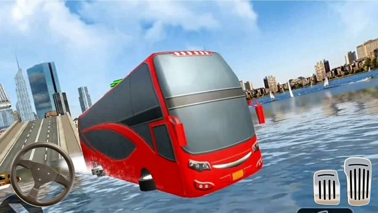 Sea Bus Driving Tourist Bus Passenger Car On Duty Driver Android