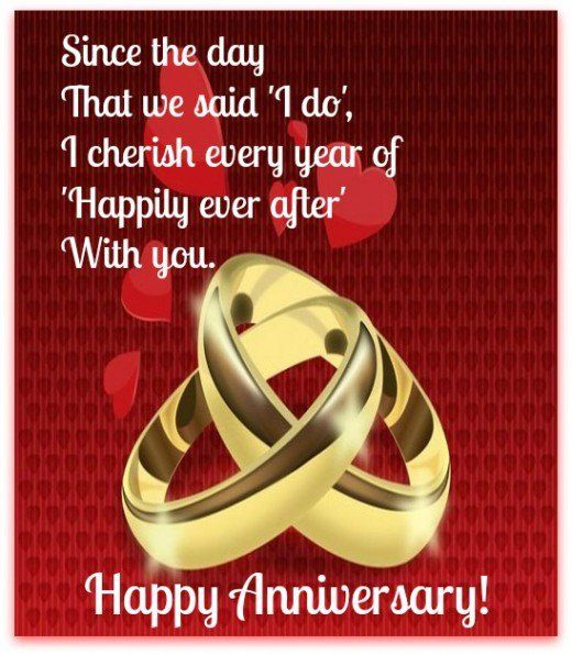 Happily ever after anniversary greeting card quotes i like send anniversary wishes with over 50 messages greetings graphics and cards suggestions for both a couple wishing each other a happy anniversary or a m4hsunfo Choice Image