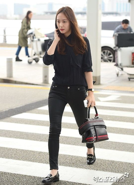 Krystal In Tod S For Her Airport Fashion Korean Star